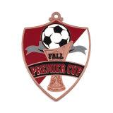 記念品の販売Keychainのための締縄Emojiが付いている銅のサッカーメダル
