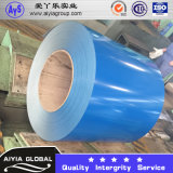 Blaue Farbe strich Zink-Stahldach-Ring vor