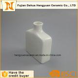Frasco quadrado pequeno branco da porcelana para a decoração Home