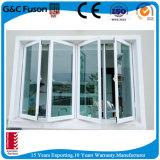 Doppia finestra di alluminio della stoffa per tendine del telaio con doppio vetro lustrato