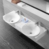 Lavabos de vanité de pierre de salle de bains de modèle de rectangle