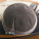 100% Bisoñes brasileño humano de Remy Pelo Suelto Wave Mono Base del frente del cordón de la PU Edge