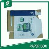 Caixa de cartão de Corruagted de quatro cores com indicador do PVC