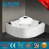 Banheira de massagem acrílica branca auto-suficiente qualificada (BT-A1027)