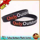 Vente en gros promotionnelle de bracelet de bracelet bon marché de silicones