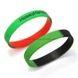 Venda por grosso de borracha de silicone personalizado bracelete e pulseira de promoção