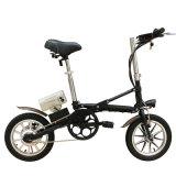Bici eléctrica del pequeño plegamiento de las ruedas de Yztd-14 36V 250W dos para la venta al por mayor