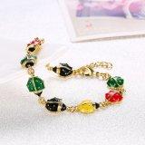 De gouden Vrouwen charmeren Armband van de Tegenhanger van de Vorm van de Armband de Dierlijke