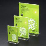"""8.5X11 transparent """" les présentoirs acryliques du Tableau avec des vis vendent en gros"""