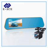 HD cheios Dual gravador de vídeo do espelho de Rearview da câmera da lente