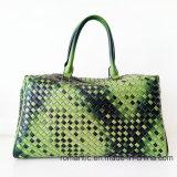 Het Ontwerp van het merk Zak van de Bagage van het Leer van de Vrouwen van Dame de PU Geweven Handtassen (D1302)