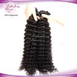 Tissage profond indien de cheveux humains de Vierge de l'onde 100%
