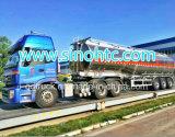 30-50 remorque liquide de réservoir d'asphalte de cbm avec le bec diesel de chauffage