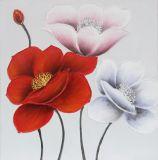 Pintura al óleo hecha a mano floreciente de la flor el 100% para la decoración casera