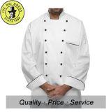 De lange Eenvormige Chef-kok van de Chef-koks van de Knopen van Kokers Witte
