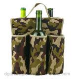 6 Koker van de Fles van het Neopreen van de Zak van het Bier van flessen de Draagbare Koelere In het groot Geïsoleerdeb