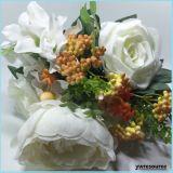 Fiori artificiali di seta Rosa falsa per i grossisti domestici della decorazione di cerimonia nuziale di Mariage della decorazione