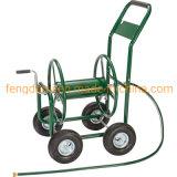 Las cuatro ruedas de metal Carrete de manguera de riego del jardín de Tc4703 Carro