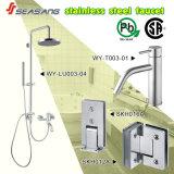 Les précipitations en acier inoxydable salle de bain douche avec filigrane portable
