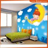 Beau paysage de la peinture à l'huile au printemps pour les chambres pour enfants