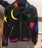Embroidered Suede Jacket de Madame, vêtant