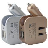 Cigarro encendedor de salida del cargador USB de coche 100V-240V de doble pared USB con enchufe de EE.UU.