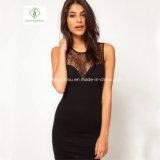 Heiße Verkaufs-Form-europäische Spitze-Weste-Fußleisten-Frauen-reizvolles Kleid