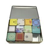 ثبتت شاي قصدير صندوق بيع بالجملة عالة [بتينتينغ] مربّعة شكل شاي قصدير وعاء صندوق