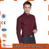 Camisas 100% de alineada formales del asunto de los hombres de calidad superior del algodón