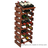 Crémaillère en bois de vin d'étalage de bouteille de mémoire d'étage