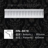 Molduras decorativas para techos de cornisa Hn-8070 PU