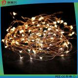 luzes decorativas da corda com luzes impermeáveis da corda do fio de cobre do diodo emissor de luz mini