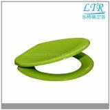 Grün farbiger Toiletten-Sitz mit schnelle Freigabe-Scharnieren
