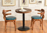 Tabela e cadeira de jantar de madeira do restaurante de Soild do projeto novo ajustadas (LL-C086)