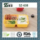 Erstklassiger Wegwerfplastiknahrungsmittelbehälter des Quadrat-3compartment