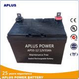 Agm-Sonnenenergie nachladbare Leitungskabel-Säure-Batterien 12V33ah UPS-Mf