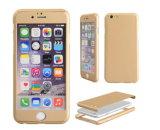 360 lleno proteger la caja del teléfono celular con los vidrios Tempered para el iPhone
