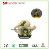 Miniatura decorativa de jardim de fadas de cogumelos Polyresin com luz solar para decoração de casa e jardim
