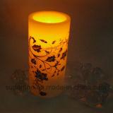 Customized Wedding Ornamentais Beautiful Pattern Printed Plastic LED Candles