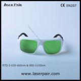 Laser Vermelho 635nm e 808nm, 980nm Laser de diodo Óculos de protecção com comprimento de onda: 630 - 660nm e 800 - 1100 nm