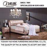 Neue moderne echtes Leder-Bett-Möbel für Wohnzimmer Fb2103