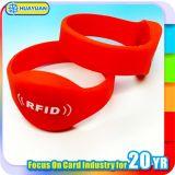 Swimmingpool-Zugriff MIFARE klassisches 1K RFID Silikonarmband