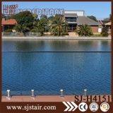 Pasamano de cristal del balcón del acero inoxidable con la espita de cristal (SJ-H100)