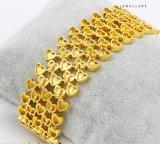 74486 überzogenes grosses breites Schmucksache-Armband der Form-24k Gold in der Metalllegierung