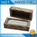 Коробка ювелирных изделий коробки кольца изготовленный на заказ дуба сбор винограда деревянная