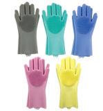 Spazzola di pulizia di lavaggio dell'impianto di lavaggio dell'Eco-Amico dei guanti di silicone del piatto magico della gomma