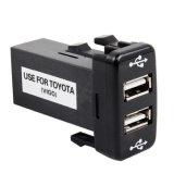 2.1A se doblan el cargador portuario del coche del USB para Toyota Vigo