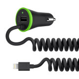 Caricatore dell'automobile del USB di Belkin con cavo per il iPhone 5/6/7/7plus
