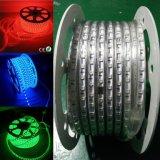 O diodo emissor de luz colore a iluminação de tira flexível impermeável clara em mudança