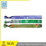 Personalizados pulseras de tela tejida con cerradura de seguridad